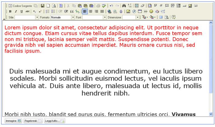 Webloom incollare del testo da word for Disegno una finestra testo